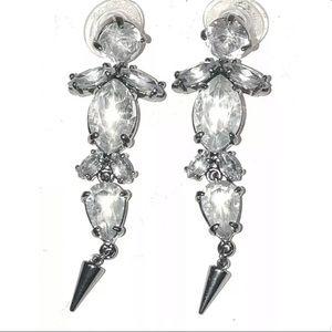 Stella & Dot Jocelyn Hematite Dangle Earrings
